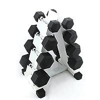 PROIRON 男士六角包胶哑铃5LB-60LB 家用男健身器材