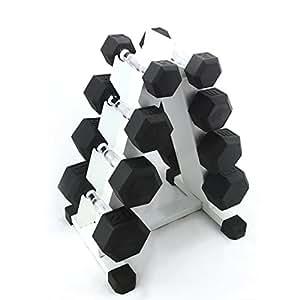 PROIRON 男士六角包胶哑铃5LB-60LB 家用男健身器材 (100lb套装(5lb 10lb 15lb 20lb)))