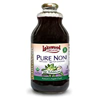 Lakewood Organic PURE Noni Juice, 32-Ounce Bottles (Pack of 6)