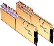 G.SKILL Trident Z 皇家金 16GB (2 x 8GB) 288-Pin DDR4 SDRAM DDR4 4800 (PC4-38400) 台式机内存型号 F4-4800C18D-16GTRG