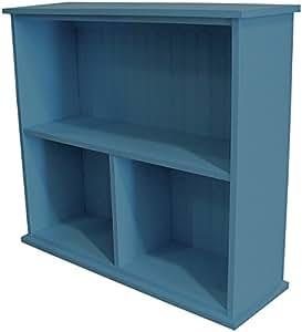 Sawdust City 木制大厅桌 – 图示为实心 Williamsburg 蓝色