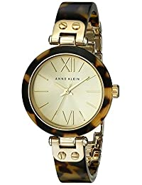 Anne Klein Women's 109652CHTO Gold-Tone and Tortoise Shell Plastic Bracelet Watch