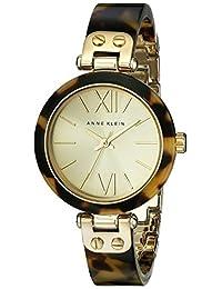 ANNE KLEIN 女式109652?chto 金色調玳瑁塑料手環手表