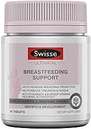 Swisse Premium Ultinatal 母乳喂養支持| 胡蘆巴,維生素B6,維生素B12等| 每瓶90片