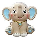CHOOLD 可爱卡通大象小猪存钱罐储钱罐,儿童生日礼物托儿所装饰 蓝色