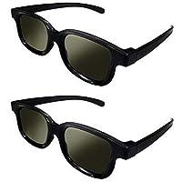 2 个 RealD 技术 3D 偏光眼镜,适用于电视/电影/电影/电影/电影/高清