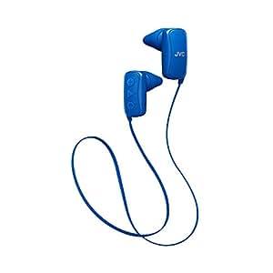 JVC 无线耳塞软糖无线耳塞 白色 (HAFX9BTW) HAF250BTA Wireless Earbud Ear Nozzle Blue