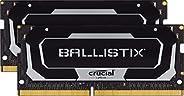 Crucial 美光 Ballistix BL2K16G32C16S4B 3200 MHz, DDR 4 DRAM, 笔记本电脑游戏内存套件 32GB (16GBx2) CL16