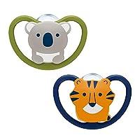 NUK Space 奶嘴 符合口腔颚部形状 Koala & Tiger
