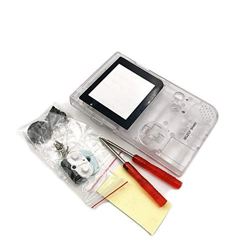 游戏男孩口袋游戏男孩口袋游戏机壳替换装外壳 GBP 外壳带按钮套件(透明)