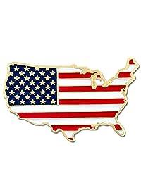 美国地图轮廓旗帜翻领别针美国设计免费精美奢华礼品盒