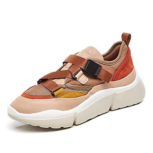 AOSENDUNオッセンシールド秋と冬のモデル赤潮の靴5 CMレトロな女性の靴のソフトで曲がりやすいカジュアルカジュアルシューズ女性2760