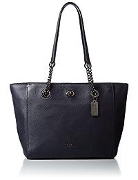 Coach 蔻驰 女式 旋钮链式手提包 57107(亚马逊进口直采,美国品牌)