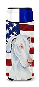 USA American Flag with Great Dane Michelob Ultra Koozies for slim cans LH9026MUK 多色 Slim