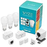 Wyze Cam 1080p 高清室内无线智能家用摄像机,带夜视功能WSHSB  Smart Home Starter Pack