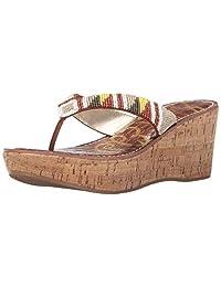 SAM Edelman 女式 ROSA 坡跟凉鞋