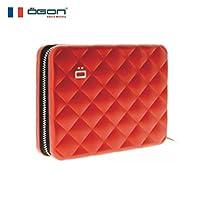 【官方直营】OGON 法国欧夹防盗护照钱包/卡包(欧洲原创 原装进口 时尚设计 创意礼物)(红色)
