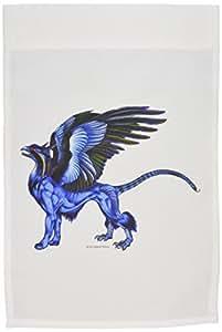 badhead gadroon 生物–Griffin FLIGHT LEADER 彩色幻想 monster 艺术–旗帜 12 x 18 inch Garden Flag