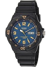 Casio 卡西欧男式'经典'石英树脂休闲手表,颜色:黑色(型号:MRW-200H-2B3VCF)