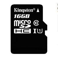 金士顿(Kingston)读速80Mb/s 16GB UHS-I Class10 TF(Micro SD)高速存储卡