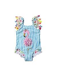 Fiomva 婴幼儿女童泳装向日葵荷叶边下装连体泳装分体式泳衣