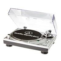 Audio Technica AT-LP120USBHC 直接驱动转台拾音器 AT95E 和 Headshell AT-HS10 银白色