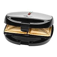 Clatronic ST/WA 3670 3 合 1 三文治机 华夫饼机 感应烘烤机 包括3 个带不粘涂层的可更换烤盘。