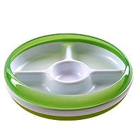 美国 OXO 奥秀 分格餐盘 绿色 适合6个月以上宝宝(盘边附加防洒环,取下防洒环, 能当作普通的碟子使用)