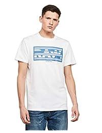 G-STAR RAW 男士 Boxed Raw 图案直筒T恤