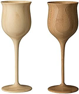 RIVERET*杯 ホワイト&ブラウン ペア φ7×h20cm、容量200ml -