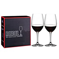 Riedel 礼铎 Accanto系列 550ml波尔多红酒杯 490/0S 水晶玻璃透明高脚葡萄酒杯 2只礼盒装(亚马逊自营商品, 由供应商配送)