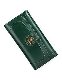 女士钱包真皮三折皮革钱包手拿包记事本卡片包