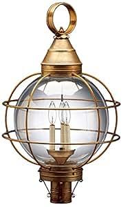 Northeast 灯笼状圆形灯笼,带 3 个烛台插座,透明塞迪斯玻璃 - P Dark Brass Finish/2863-db-lt3-csg