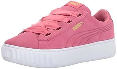 Puma VIKKY PLATFORM RIBBON Women 364979 02 女士板鞋 Pink US6 (亚马逊自营 保税区发货)
