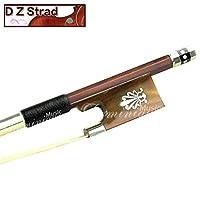 D Z Strad 小提琴蝴蝶结 - 型号 301 - 巴西木蝴蝶结 Ox Horn Frog 和 Fleur-de-Lis 镶嵌4334408244 Brazil Wood - 4/4