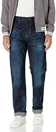 Calvin Klein 卡尔文·克莱恩 男式 休闲直筒牛仔裤 深水蓝色 29W x 30L