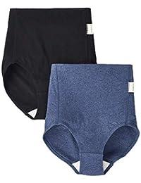 犬印本铺 产后妈妈 收腹内裤(2 条装) M 黑色+深蓝色 SH2481