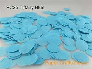 Sopeace 1 英寸 (2.5cm) 圆形纸质五彩纸纸纸质派对桌装饰气球套件,30 克 Tiffany 蓝色 Sopeace