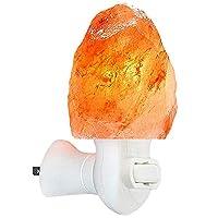 Figura Homes 喜马拉雅盐夜灯 – 粉色天然喜马拉雅盐灯带额外灯泡 – UL 批准墙插头, 橙色 1包