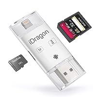 苹果手机读卡器iPhone x/7/8 多功能OTG苹果安卓 单反相机SD卡TF卡读卡器