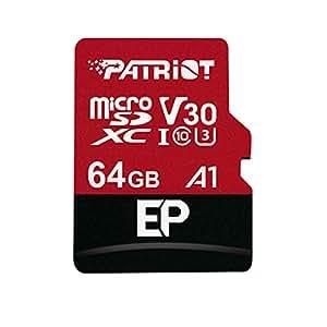 Patriot LX 系列 256GB 高速微型 SDXC Class 10 UHS-1 传输速度动作相机,手机,平板电脑电脑 64GB