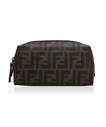 check out a517f 2f90a FENDI 芬迪PVC经典双F图案小号女士小物袋-服饰箱包-亚马逊中国