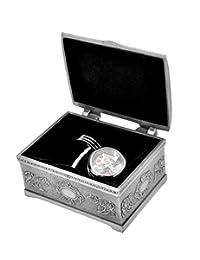 REINDEAR 豪华 Tourbillon 碳纤维可移动机械手表运动袖扣 袖扣 W/首饰盒