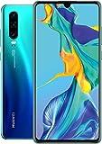 """华为 P30 128GB+6GB RAM (ELE-L29) 6.1"""" LTE Factory Unlocked GSM 智能手机(国际版) Aurora"""