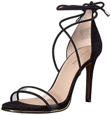 Kenneth Cole New York 女士 Berry Vinyl Stilleto 高跟凉鞋 黑色 6.5 M US