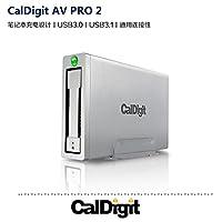 CalDigit加州数位 AV Pro 2 USB-C硬盘3T带HUB扩展坞功能