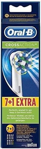 Oral-B 欧乐B CrossAction牙刷头,16度角刷毛,可提供出色的清洁效果,7 +1件