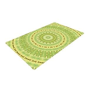 Kess InHouse Iris Lehnhardt 弹簧圈轮*编织浴垫,60.96 x 91.44 厘米