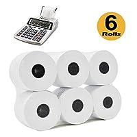 添加机器/计算器滚筒打印机计算器 6 ROLLS 白色