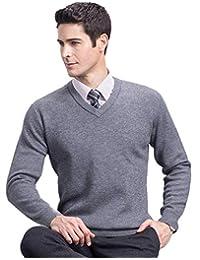 恒源祥羊毛衫男圆领套头长袖纯色针织打底衫秋冬加厚保暖经典男士毛衣